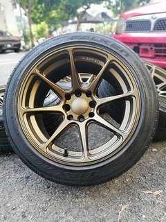 Xxr 527 15 inch sports rim saga flx tyre 70%. *dibawah harga pasaran*