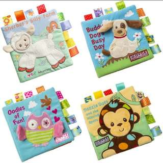 🆓️POST Babies First Cloth Tag Book Educational & Learning