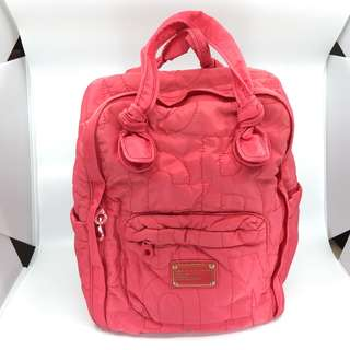Marc by Marc Jacobs Pretty Nylon Knapsack Backpack Double Handle Raspberries