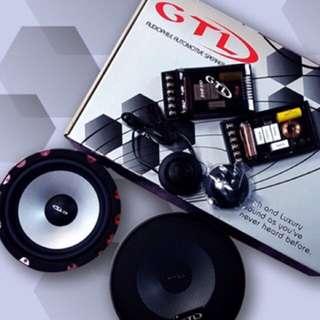 🚚 GTL Hi-Fi分離式喇叭  讓你擁有高音質的享受  分音器 GX-245內置4段高音dB值的調整 車內因高音安裝位置的不同,需要調整高音與中銀喇叭輸出音量的平衡,出貨設定位置在0dB的位置,可自行打開上蓋調整高音輸出音量。