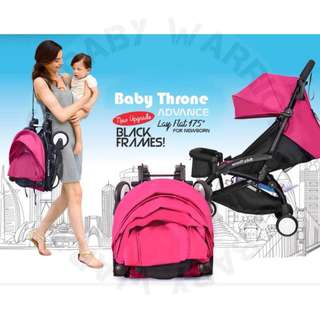 Original Baby Throne Ultra Lightweight Advance Stroller - Pink