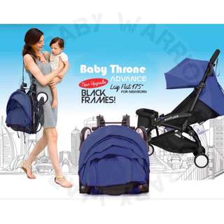 Original Baby Throne Ultra Lightweight Advance Stroller - Navy Blue