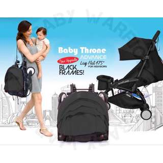 Original Baby Throne Ultra Lightweight Advance Stroller - Black