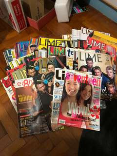 Multiple old issues of Lime magazine + etc