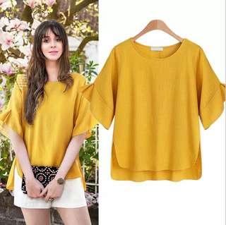 (XL~5XL) Europe short-sleeved loose shirt