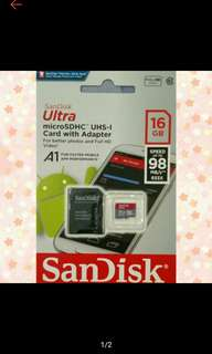 sandisk microsd with adapter 16gb