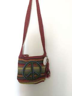 The Sak Crochet Peace Cross body