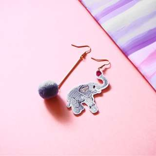 🚚 HADAR THE ELEPHANT EARRINGS (EMBROIDERY PATCHES)