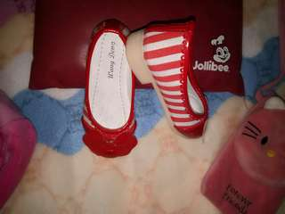 Red doll kids shoes