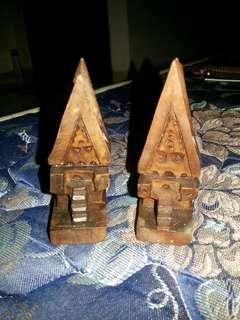 Rumah Adat Sumatera Kayu Miniatur Vintages