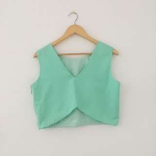 Mint Green Crop Top