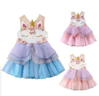 UNICORN CHIFFON DRESS