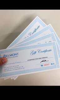 Belmont Hotel and Resort In Pasay GC worth 6k per GC