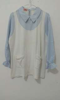 Blue and White Shirt by Tresa