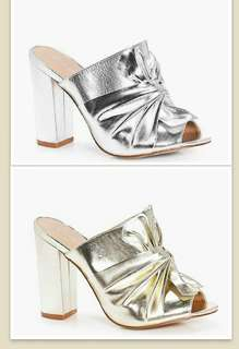 ❇ Twisted Metallic Silver or Gold Mule  ❇NEW! - IN BOX ❇