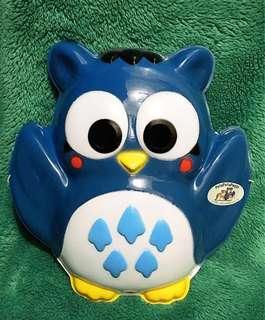 非賣品 純分享 PataPataPeppy 貓頭鷹  面具 Sanrio 1994
