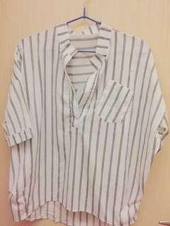 🚚 (全新)襯衫條紋🌸