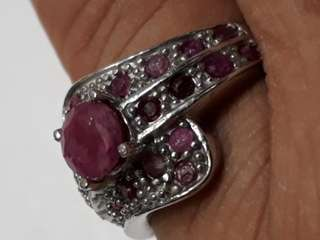 SAFAR Gem Stone 925 Sliver Ring