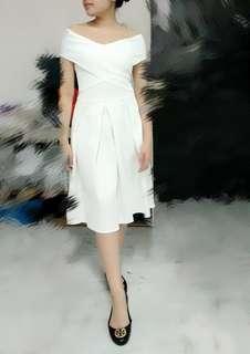 Dress ballerina white putih