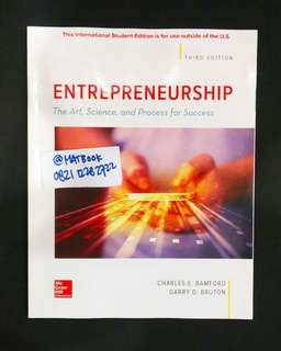 Entrepreneurship 3ed