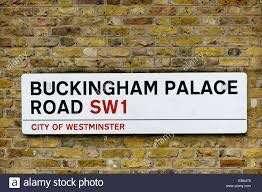 Vintage wall decoration - Buckingham Palace signage