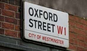 Vintage wall decoration - oxford street signage