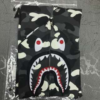 現貨 Bape city camo shark full zip hoodie 夜光鯊魚 外套