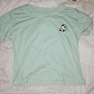 Mint panda design sexy top