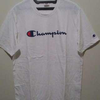 Champion tee white