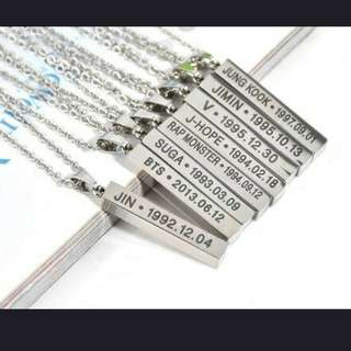 [PO] BTS necklace