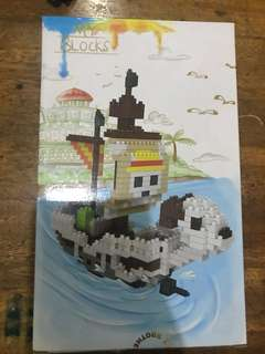 One piece going merry blocks set