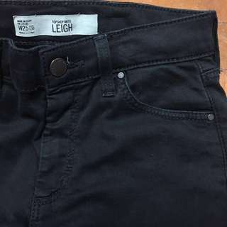 Topshop Leigh black skinny jeans W25 L30