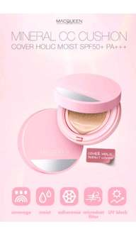 Macqueen cc cushion cover holic moist (Case+3refills+5puffs)