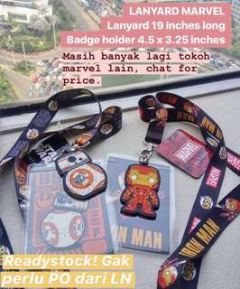 Lanyard MARVEL Original Readystock
