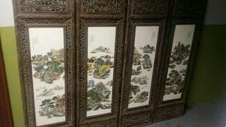 手繪瓷板畫