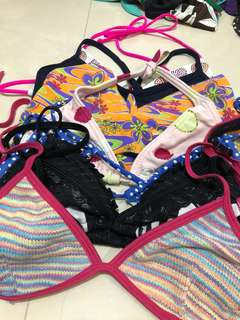 Assorted preloved kid's bikini tops