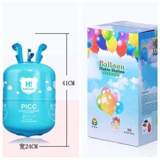 13.4L 氦氣 充氣球 約充10吋(乳膠) : 約30個