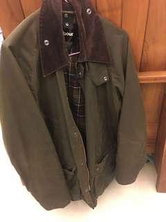 🚚 英國品牌 Barbour 油布外套 二手 綠色 騎士