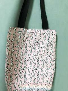 Customise unicorn pink Long strap tote bag