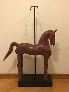古董木馬擺設 Vintage wooden horse