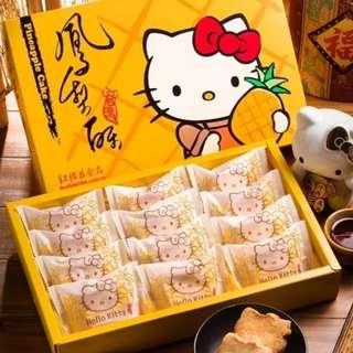 ✈大玩台灣代購✈台灣紅櫻花Hello Kitty 造型鳳梨酥3/6/8/12入