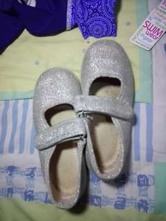 Silver shoes for baby girl