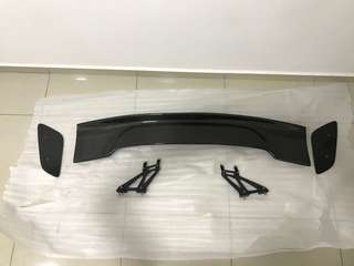 Adjustable carbon fiber GT wing for civic fc/mitsubishi lancer