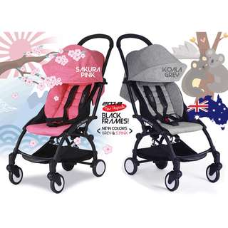 New Original Baby Throne Ultra Lightweight Advance Stroller - Sakura Pink / Koala Grey