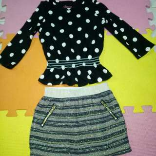 Take all!Take OshKosh Skirt & CirCo Top( Size 18-24 M)