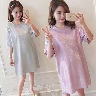 PO Maternity Shimming 3/4 Sleeve Dress