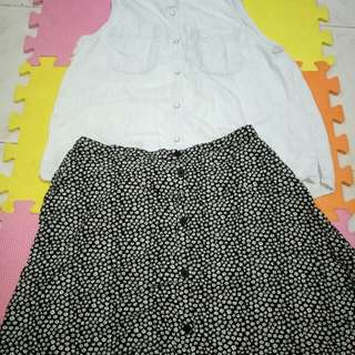 Take Divided Skirt& Abercrombie Top(14-15y/o)