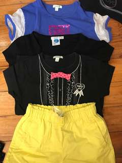 branded tops / shorts