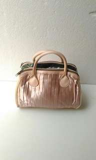 Pink Shiny hand bag  import