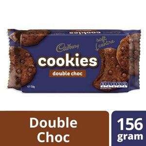 Cadbury Soft Double Chocolate Chip Cookies 156g